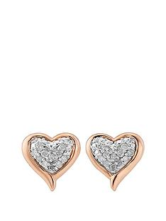 diamond-chic-rose-gold-plated-sterling-silver-10-point-diamond-heart-earrings