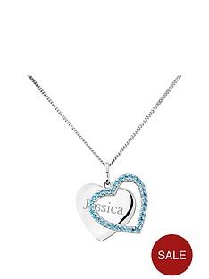 keepsafe-keepsafe-personalised-sterling-silver-blue-cubic-zirconia-heart-pendant