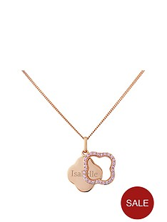 keepsafe-personalised-rose-gold-plated-sterling-silver-pink-cubic-zirconia-flower-pendant