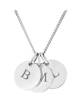 the-love-silver-collection-keepsafe-personalised-sterling-silver-three-pebble-pendant