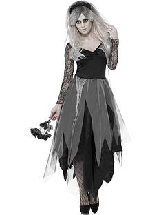 graveyard-bride-costume-with-dress-and-rose-veil