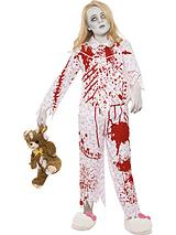 Zombie Pyjama Girl Costume Pink with Top and Trousers