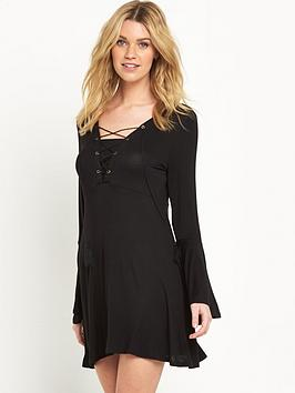 v-by-very-tall-lace-up-front-boho-jersey-dressnbsp