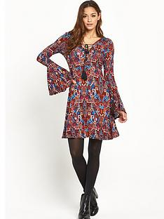v-by-very-tall-lace-up-front-boho-jersey-dress