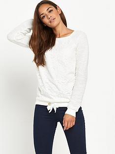 south-lace-tie-front-sweatnbsp