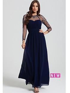 little-mistress-little-mistress-navy-ls-embellished-maxi-dress