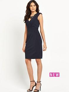 little-mistress-little-mistress-navy-embellished-wiggle-dress
