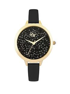 little-mistress-little-mistress-black-crystal-cluster-dial-black-pu-strap-ladies-watch