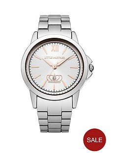 little-mistress-little-mistress-white-sunray-dial-silver-tone-metal-bracelet-ladies-watch