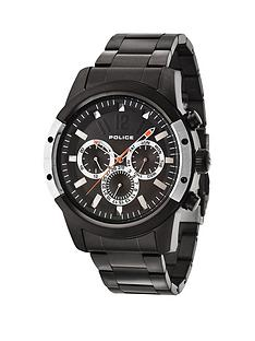 police-police-scrambler-chronograph-black-dial-black-stainless-steel-bracelet-mens-watch