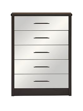 consort-cameo-ready-assembled-mirrored-5-drawer-chest