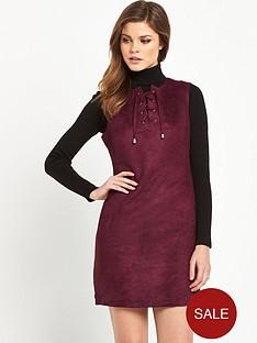 v-by-very-sleeveless-suedette-dress