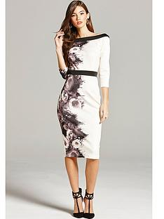 little-mistress-printed-bodycon-dress