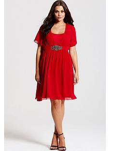 little-mistress-little-mistress-curve-red-embellished-chiffon-dress