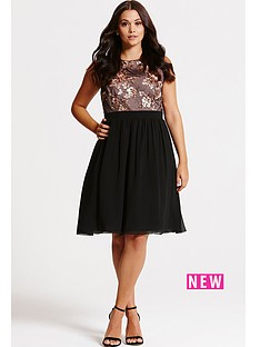 little-mistress-little-mistress-curve-black-and-gold-sequin-fit-and-flare-dress