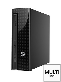 hp-slimline-450-a100na-intelreg-celeronreg-processor-4gb-ram-1tb-hard-drive-desktop-base-unit-with-optional-microsoft-office-2016-textured-dotted-black