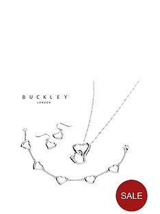 buckley-london-rhodium-plated-crystal-set-heart-earrings-pendant-ampnbspbracelet-set