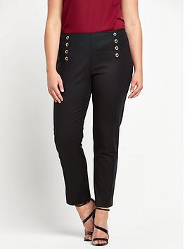 So Fabulous Eyelet Front Trousers