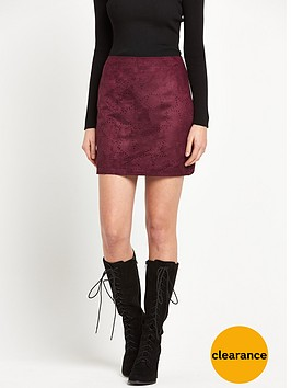 v-by-very-star-suedette-skirt