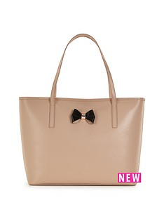 ted-baker-ted-baker-bow-detail-leather-crosshatch-shopper