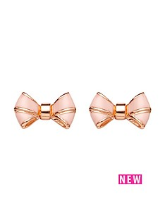 ted-baker-enamel-bow-earrings