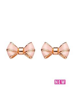 ted-baker-enamel-bow-earrings