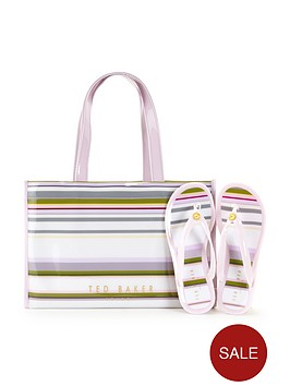 ted-baker-icon-tote-and-flip-flop-set
