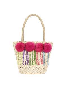 girls-pom-pom-tassel-beach-bag