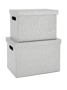 glitter-lidded-storage-boxes-silver-set-of-2