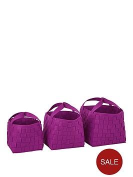 set-of-3-felt-storage-baskets-purple