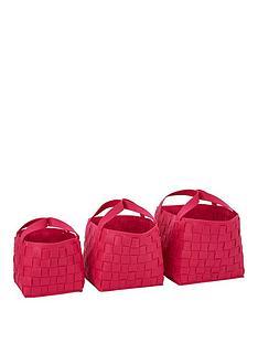 set-of-3-felt-storage-baskets-pink
