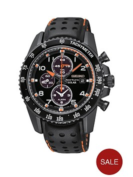 seiko-sportura-chronograph-black-dial-with-padded-leather-strap-mens-watch