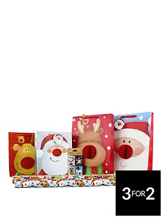 cute-27-piece-character-gift-wrap-and-gift-bag-bundle