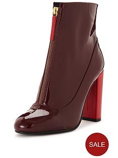 carvela-stephan-patentnbspzip-up-ankle-bootnbsp