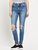 721 Rip Knee High Rise Skinny Jean