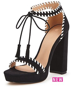 v-by-very-lord-block-heel-tie-front-whipstitch-sandals
