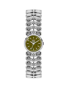 orla-kiely-orla-kiely-olive-green-dial-with-silver-stem-link-bracelet-ladies-watch