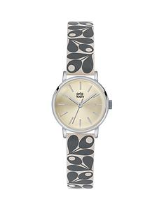orla-kiely-orla-kiely-champagne-gold-dial-with-grey-cream-and-yellow-acorn-print-leather-strap-ladies-watch