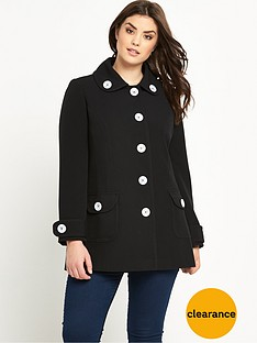 so-fabulous-double-crepe-contrast-button-coatnbsp