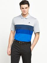 Adidas Golf Climacool Engineered Striped Polo