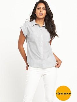v-by-very-cap-sleeve-stripe-shirtnbsp