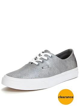 vans-authentic-decon-metallic-leather-plimsolls