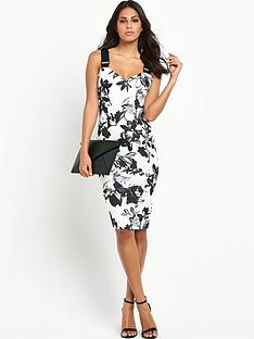 lipsy-mono-print-buckle-strap-bodycon-dress