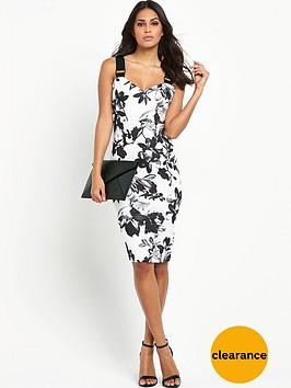 lipsy-mono-print-buckle-strap-bodycon-dress