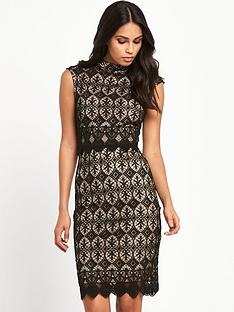 lipsy-lipsy-high-neck-lace-bodycon-dress