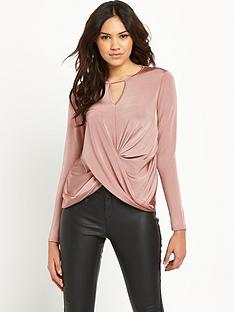 lipsy-v-cut-twist-blouse