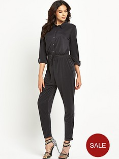 lipsy-black-long-sleeve-jumpsuit