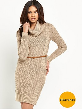 lipsy-cable-cowl-neck-jumper-dress