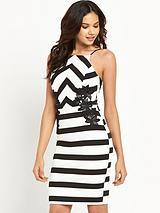 Michelle KeeganStriped AppliqueStrappy Dress