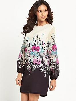 lipsy-cream-floral-printed-shift-dress